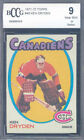 1971-72 topps #45 KEN DRYDEN montreal canadiens rookie card BGS BCCG 9