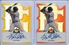2014 Leaf Valiant Perfect Game Kyle Dean Yellow Prismatic RC Auto 1 5 OF
