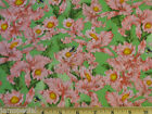 Giordano Studios Pink Butterfly Daffodil Fabric BTY by yard 36x44 cotton quilt