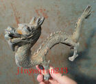 Collectables! Dynasty Old Chinese Bronze Dragon Statue 24cm