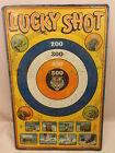 VintageTin Litho Toy Target Lucky Shot Game T Cohn Co Dart BB Rare