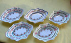 Antique Victorian OPEN SALTS IMPERIAL CHINA Austria Set 5 Delicate Porcelain