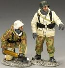 KING & COUNTRY BATTLE OF THE BULGE BBG046 GERMAN ARTILLERY CREW SET 2 MIB