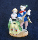 Vintage Occupied Japan China Figurine Colonial Ministral Couple Playing Music