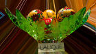 $6800  Lalique Champs Elysees Bowl Green Crystal Vase LE 1121620 new in box