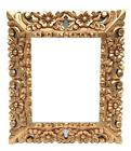 Colonial Carved Wood Wooden Painting Gilt Frame 453 Cuzco Peru Vintage Art 15x13