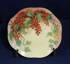Vintage Antique Hand Painted Mignon China Z.S. + Co. Bavaria Red Currants Plate