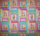 AN EASTER BUNNY WITH JELLY BEANS HOLIDAY COTTON FABRIC BY THE YARD