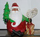 Jolly BLACK SANTA CLAUS Setting By Gifts Christmas Picture Holder Figurine