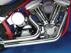 Radii Short Stuff Style Drag Exhaust Pipes Set 2 1 4 Heatshields Harley Softail