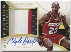 CLYDE DREXLER 2013 14 IMMACULATE COLLECTION PREMIUM 4 COLOR PATCH AUTO 8 10