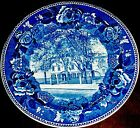 Wedgwood Blue  and White Wadsworth Longfellow House Portland Plate
