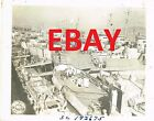 WWII VINTAGE PHOTO US NAVY LSTS LINED UP IN NAPLES ITALY PRACTICE LANDINGS LOOK