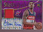 2013-14 Panini Select Purple Pular Prizm Jersey Auto #3 Glen Rice Jr RC 24 99