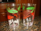 *2* Vintage SPORTSMAN FISHING GLASSES Tumblers Gas Station Give-Away