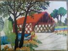 Covered Bridge Denham  crewel embroidery kit