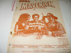 DATA EAST SEGA MAVERICK PINBALL MACHINE ORIGINAL MANUAL-New old stock!!