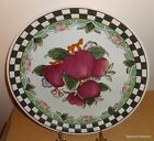 Made in China Decorate Plate Red Apples & Green Checkered Rim SO3