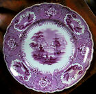ANTIQUE EARLY ENGLISH STAFFORDSHIRE POTTERY TRANSFER PLATE 1800s Mayer Longport