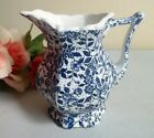 Vtg ceramic creamer pitcher with blue flowers chintz