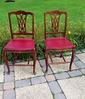 VINTAGE MAHOGANY WOODEN WOOD FOLDING DINING CHAIR SET FERGUSON BROS