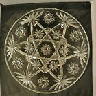 Vintage EAPC Anchor Hocking Star of David Glass Platter 13-1/2