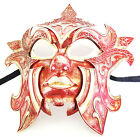 Gladiator Red VENETIAN Mask Halloween Mardi Gras Carnival Costume Prom Party