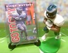 1996  RICKY WATTERS - Starting Lineup - Loose Figure Card & Stand - Phil. Eagles