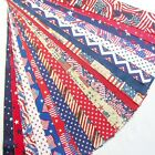 Patriotic Jelly Roll 20 Quilt Fabric Strips 2.5 x 43