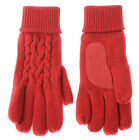 $30 Isotoner Iso Red Patterned Gloves Thinsulate Ultra Soft Stitch One Size