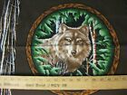 Wolf  Wood Haven Pillow 4  Panel fabric top 17x17  Forest Brown Green  R2