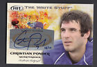 Christian Ponder 2011 SAGE HIT The Write Stuff Autograph Card 18 25