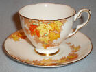 Royal Stafford England Fine Porcelain Tea Cup and Saucer Autumn Leaves