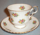 Royal Windsor England Fine Porcelain Tea Cup and Saucer Pink Yellow Flowers