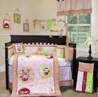 Custom Baby Bedding Girl Crib  Set - Jungle Monkey (Pink) - 13 pieces