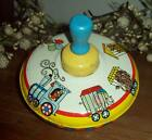 Vintage Toy Spinning Top OHIO ART Circus Train Animals Bryan Ohio 304 1 179