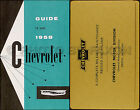 1958 Chevy Owners Manual with Envelope Bel Air Impala Del Ray Chevrolet Car