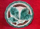 Antique German Majolica Chestnut Leaf Plate c1828-1880, gm387