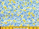 Moda Fabric ~ SUMMER BREEZE ~ French Country Blue with Tiny Rose 464-12