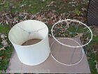 Vintage Matched Pair (2) Wire Frame Lamp Shades 13