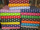 PORTA CRIB FITTED SHEET Polka Dot Fabric UPick cotton made NEW 3/8