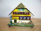 SWISS WOOD HOME CHALET HOUSE WATER WHEEL JEWELRY MUSIC BOX DR. SCHIWAGO