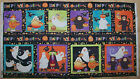 A PUMPKIN AND THE GANG HALLOWEEN COTTON QUILITING FABRIC PANEL