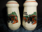 AMISH COUNTRY SALT AND PEPPER SHAKERS WITH HORSE AND WAGON DESIGN EUC