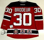 MARTIN BRODEUR SIGNED 3X STANLEY CUP CHAMPION NEW JERSEY DEVILS JERSEY PSA DNA