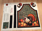 A TOM THE TURKEY THANKSGIVING TURKEY COTTON APRON FABRIC PANEL BY PATTY REED
