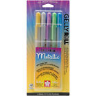 Gelly Roll Metallic Medium Point Pens 5/Pkg-Gold, Silver, Blue, Emerald