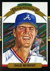 DALE MURPHY SIGNED JSA CERT STICKER 1985 DONRUSS 5X7 AUTHENTIC AUTOGRAPH