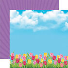 Reminisce SPRING TULIPS 12x12 Dbl Sided 2PCS Scrapbooking Paper