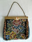 Steampunk~Beaded Floral Tapestry~Frame Top~Cameo Accent~Chain Strap Purse